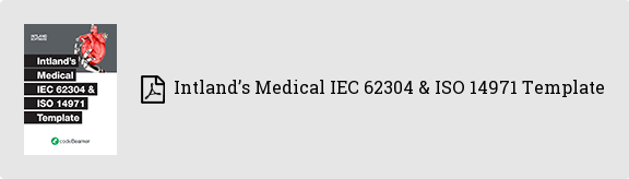 Intland's Medical IEC 62304 & ISO 14971 Template