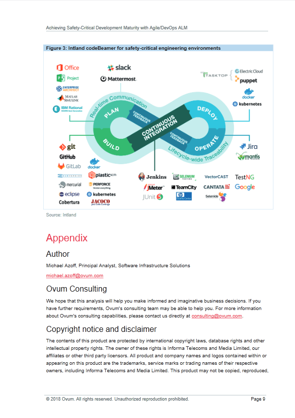 Ovum Intland WP - Achieving Safety-Critical Development Maturity with Agile_DevOps ALM-01