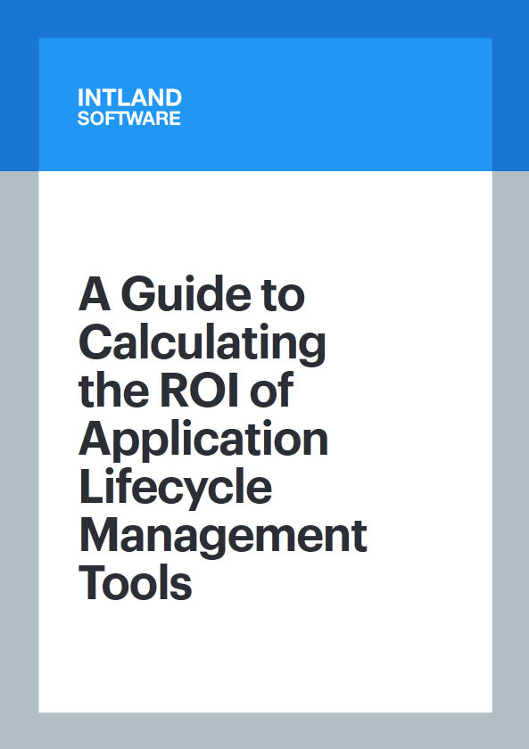 A Guide to Calculating the ROI of Application Lifecycle Management Tools cover