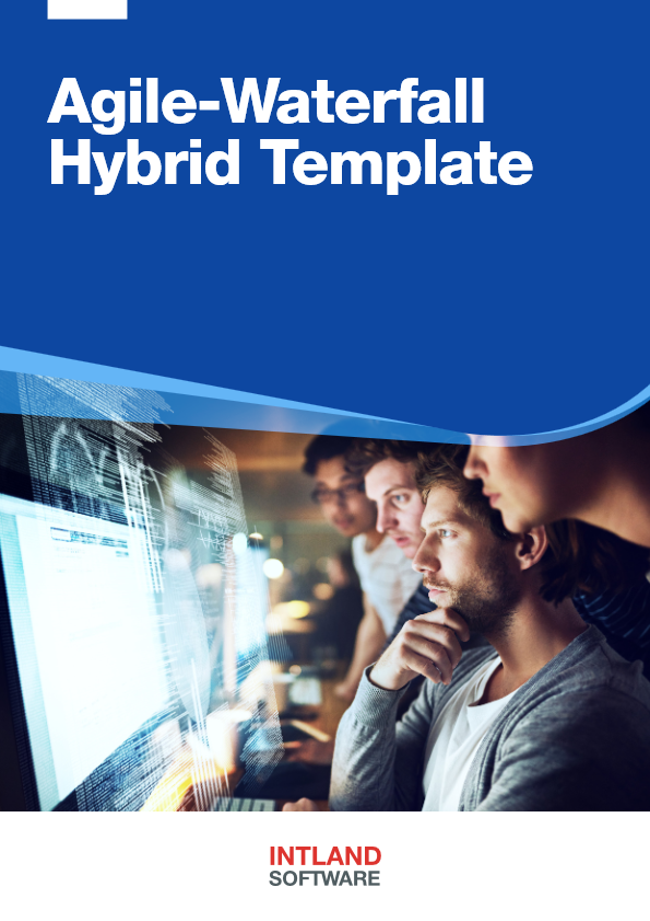 Agile Waterfall Hybrid Template brochure cover