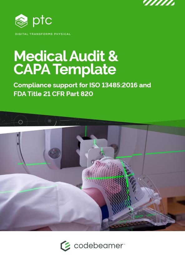 Medical Audit & CAPA Template brochure cover