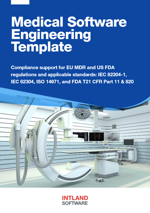 Medical Software Engineering Template brochure cover