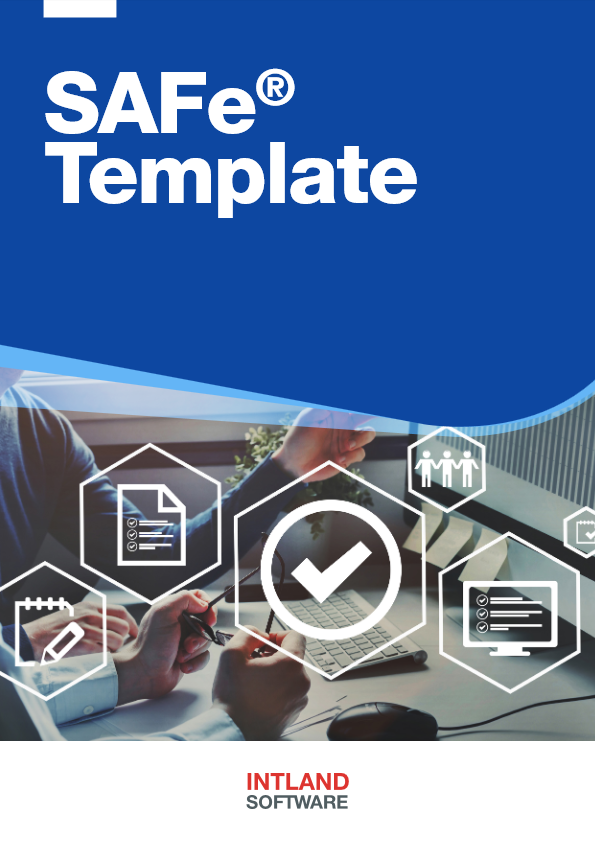 Intland's SAFe® Template brochure cover