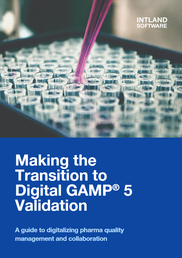 Making the Transition to Digital GAMP® 5 Validation cover