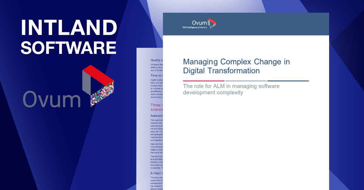 New Ovum White Paper: Managing Complex Change in Digital Transformation