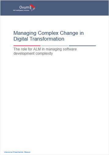 Ovum: Managing Complex Change in Digital Transformation cover